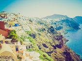 Oia ia in grecia retrò guardare — Foto Stock
