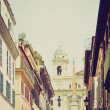 Piazza di Spagna, Rome retro look — Stock Photo