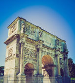Arch of Constantine, Rome retro look — Stock Photo