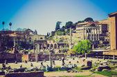 罗马论坛、 罗马复古外观 — 图库照片