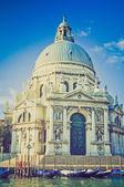 圣塔玛丽亚 · 德拉礼炮威尼斯复古外观 — 图库照片