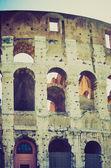 Coliseo, look retro roma — Foto de Stock