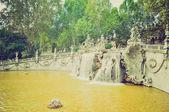 Fontana dei mesi turyn retro spojrzenie — Zdjęcie stockowe