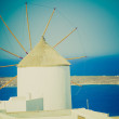 Oia Ia in Greece retro look — Photo