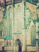 лоренц kirche, нюрнберг ретро — Стоковое фото