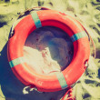 Stock Photo: Life buoy retro looking