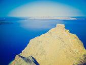 Therasia in Greece retro look — Stock Photo