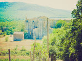 San Galgano Abbey retro looking — Stock Photo