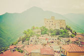 Castelvecchio di Rocca Barbena retro looking — Stock Photo