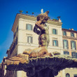 Stock Photo: Triton Fountain, Rome retro look