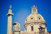 Trajans Markt, Rom-retro-look — Stockfoto