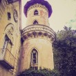 Miradolo castle retro looking — Stock Photo
