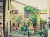 Rocca di Castiglione Orcia, Italy retro looking — Stock Photo