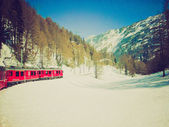 Bernina, Switzerland retro looking — Stock Photo