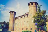 Palazzo Madama Turin retro look — Stock Photo