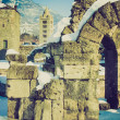 Roman Theatre, Aosta retro looking — Stock Photo