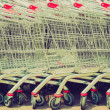 Shopping carts retro looking — Stock Photo #33078983