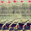 Shopping carts retro looking — Stock Photo