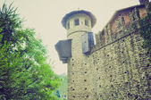 Medieval Castle Turin retro look — Stock Photo