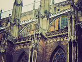 Ulm Minster church retro look — Stock Photo