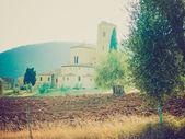 Sant Attimo Abbey, Italy retro looking — Stock Photo