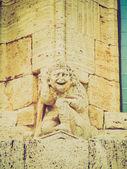 San Quirico Orcia, Tuscany, Italy retro looking — Stock Photo