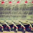 Shopping cart trolley retro looking — Stock Photo #33637883