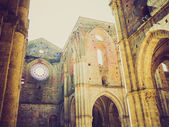 San Galgano Abbey retro looking — Stock Photo