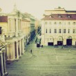Piazza San Carlo, Turin retro look — Stock Photo #34289871