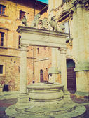 Montepulciano, Italy retro looking — Stock Photo
