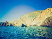 Santorini in Greece retro look — Stock Photo