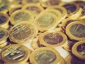 Euro retro op zoek — Stockfoto