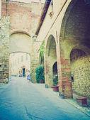 Montepulciano, Italy retro looking — Stock Photo