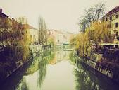 Ljubljana retro looking — Stock Photo