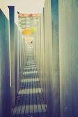 Holocaust memorial, Berlin retro look — Stock Photo