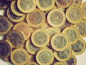 Euros retro looking — Stock Photo