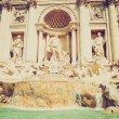 Trevi Fountain, Rome retro look — Stock Photo