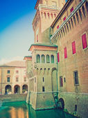 Ferrara, Italy retro looking — Stock Photo