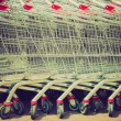 Shopping cart trolley retro looking — Stock Photo #34841873