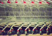 Shopping cart trolley retro looking — Stock Photo