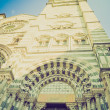 San Lorenzo church, Genoa retro look — Stock Photo