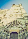 San Lorenzo church, Genoa retro look — Stock Photo