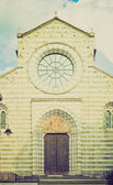 San Donato church, Genoa retro look — Stock Photo