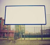 Billboard retro looking — Stock Photo