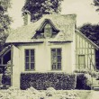 Vintage sepia Old cottage — Stock Photo #35589759