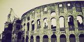 Vintage sepia Colosseum, Rome — Stock Photo