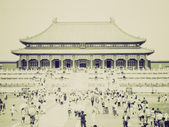 Vintage sepia Tiananmen in Peking — Stock Photo
