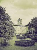 Vintage sepia San Quirico Orcia, Tuscany, Italy — Stock Photo