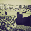 Постер, плакат: Vintage sepia Holocaust memorial Berlin