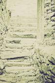 Vintage sepia Stairway — Stock Photo